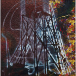 "Sigmar Polke. Watchtower (Hochsitz). 1984. Synthetic polymer paints and dry pigment on fabric, 9' 10"" x 7' 4 1/2"" (300 x 224.8 cm). The Museum of Modern Art, New York. Fractional and promised gift of Jo Carole and Ronald S. Lauder. © 2013 Estate of Sigmar Polke/Artists Rights Society (ARS), New York/VG Bild-Kunst, Bonn"