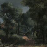 Hercules Segers, Woodland Path, canvas on panel, 16.1 x 22.7 cm, ca. 1618-20. Private Collection