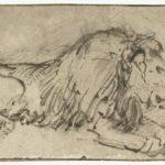 Rembrandt van Rijn, Liegender Löwe, ca. 1660, Rijksmuseum Amsterdam