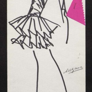 Modeskizze, Marc Bohan für Christian Dior, 1987 © Dior Héritage collection, Paris